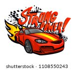 strong power  grungy text and... | Shutterstock .eps vector #1108550243
