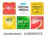 social media templates summer... | Shutterstock .eps vector #1108554173
