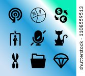 vector icon set about business...