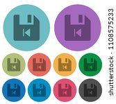 file previous darker flat icons ... | Shutterstock .eps vector #1108575233