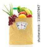 healthy diet. fresh food in a... | Shutterstock . vector #110857847