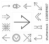 set of 13 simple editable icons ... | Shutterstock .eps vector #1108589807