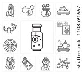 set of 13 simple editable icons ... | Shutterstock .eps vector #1108591667