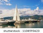 mediterranean port. montenegro  ...   Shutterstock . vector #1108593623