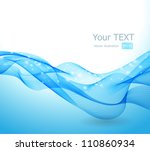 Abstract blue wave - stock vector