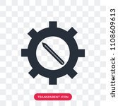 settings vector icon isolated... | Shutterstock .eps vector #1108609613