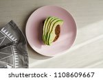 avocado on toast on a plate | Shutterstock . vector #1108609667