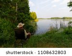 fisherman sitting on the chair... | Shutterstock . vector #1108632803