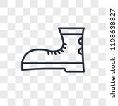 boot vector icon isolated on... | Shutterstock .eps vector #1108638827