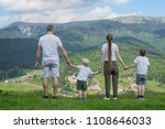 family holiday. parents and two ... | Shutterstock . vector #1108646033