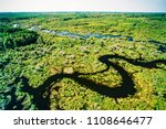 aerial of beaver lodge  spruce... | Shutterstock . vector #1108646477