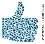 thumb finger up mosaic created... | Shutterstock .eps vector #1108648187