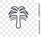 palm tree with date vector icon ... | Shutterstock .eps vector #1108649267