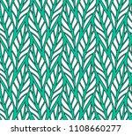 vector green leaf seamless... | Shutterstock .eps vector #1108660277