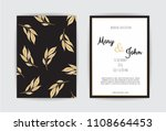 golden vector invitation with... | Shutterstock .eps vector #1108664453