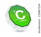 carbon button - stock vector