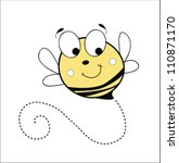 vector bee - stock vector
