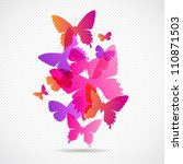 Vector Butterflies Background...