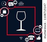 wineglass symbol icon | Shutterstock .eps vector #1108715147