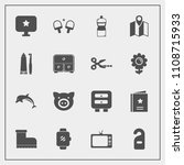 modern  simple vector icon set... | Shutterstock .eps vector #1108715933