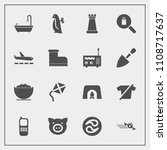 modern  simple vector icon set... | Shutterstock .eps vector #1108717637