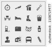 modern  simple vector icon set... | Shutterstock .eps vector #1108719977