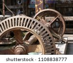 old rusty gears. rusty machine... | Shutterstock . vector #1108838777