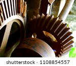 old rusty gears. rusty old... | Shutterstock . vector #1108854557