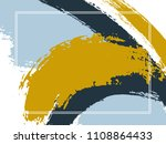 horizontal border with paint... | Shutterstock .eps vector #1108864433