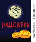 halloween background with the... | Shutterstock .eps vector #110888027