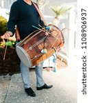 wedding dhol player | Shutterstock . vector #1108906937
