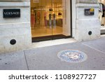 Small photo of New York, USA - April 29, 2018: Versace store in central Manhattan