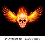 flaming skull with fire wings....