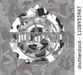 abundant on grey camo texture   Shutterstock .eps vector #1108955987