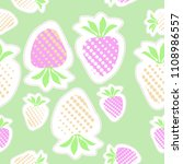 strawberry  halftone  seamless... | Shutterstock . vector #1108986557