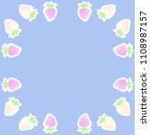 strawberry  halftone pattern ... | Shutterstock . vector #1108987157