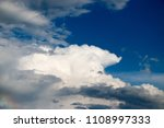 white clouds against the blue...   Shutterstock . vector #1108997333