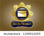 gold emblem with business... | Shutterstock .eps vector #1109013293