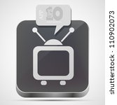 vector tv app icon with gray... | Shutterstock .eps vector #110902073