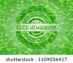 gold membership green emblem... | Shutterstock .eps vector #1109036417