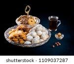 eid al fitr breakfast cookies ...   Shutterstock . vector #1109037287
