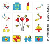 set of 13 simple editable icons ... | Shutterstock .eps vector #1109056517