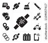 set of 13 simple editable icons ... | Shutterstock .eps vector #1109057417