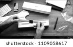 paris  france   apr 12 2018 ... | Shutterstock . vector #1109058617