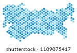 blue pixelated ussr map. vector ... | Shutterstock .eps vector #1109075417
