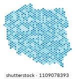blue round spot poland map.... | Shutterstock .eps vector #1109078393