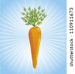 one carrot over blue background.... | Shutterstock .eps vector #110911673