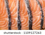 salmon with black pepper and... | Shutterstock . vector #1109127263
