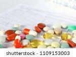 colored pills poured from a... | Shutterstock . vector #1109153003
