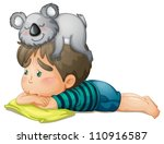 Illustration Of A Boy And Bear...